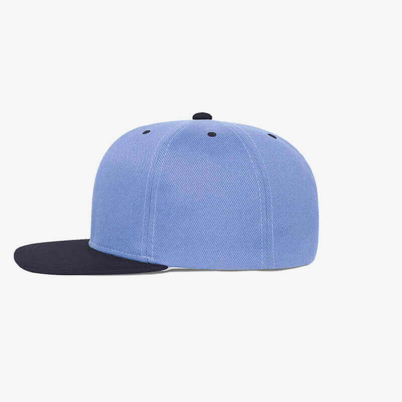 Boné aba reta azul claro e azul marinho Two color-Lateral
