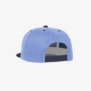 Boné aba reta azul claro e azul marinho Two color-Perfil tr