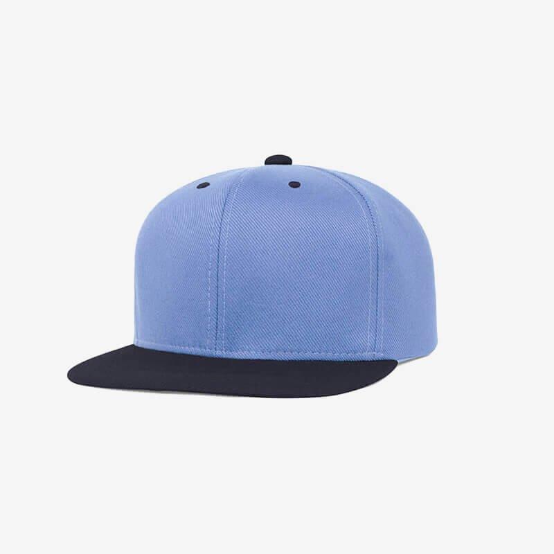 Boné aba reta azul claro e azul marinho Two color-Perfil