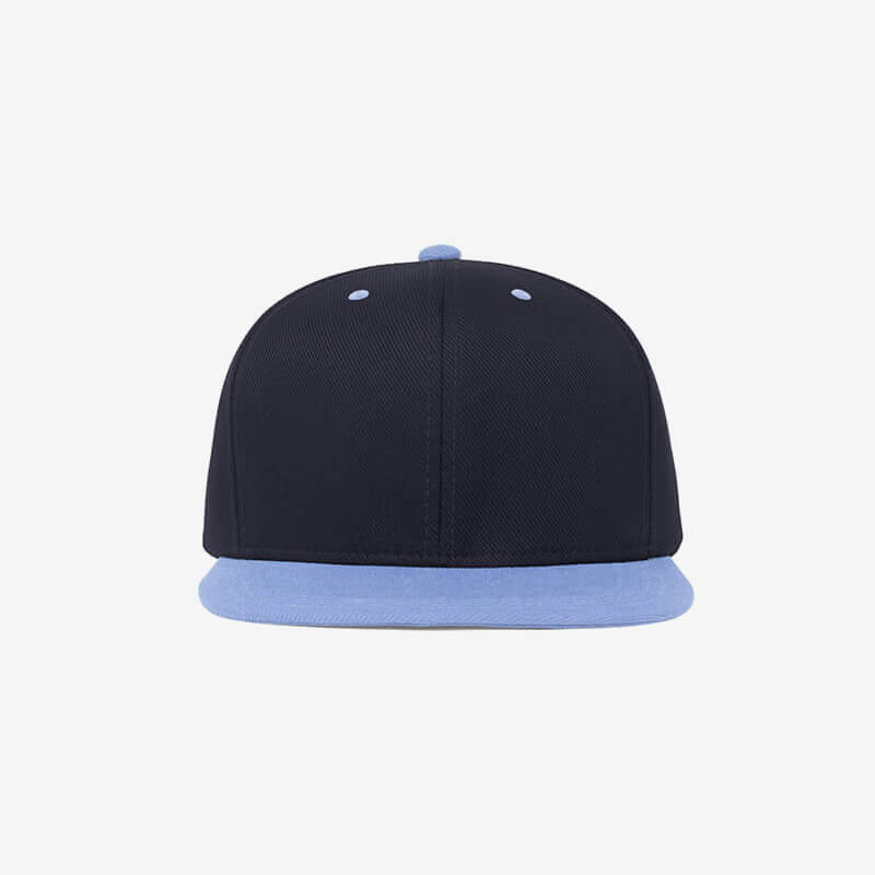 Boné aba reta azul marinho e azul claro Two color 19 - Frente