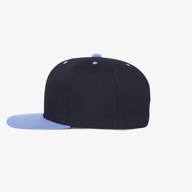 Boné aba reta azul marinho e azul claro Two color 19 - Lateral