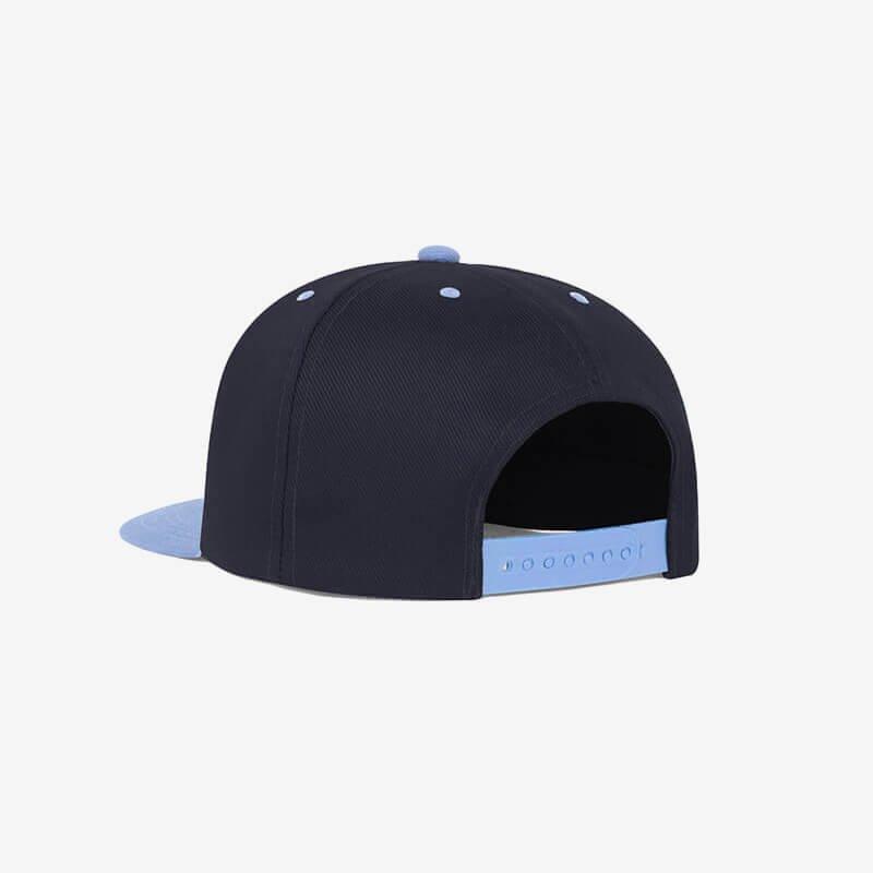 Boné aba reta azul marinho e azul claro Two color 19 - Perfil tr
