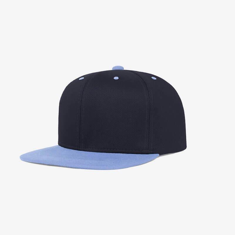 Boné aba reta azul marinho e azul claro Two color 19 - Perfil