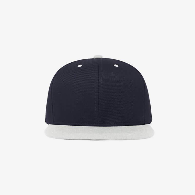 Boné aba reta azul marinho e cinza claro Two color 19 - Frente