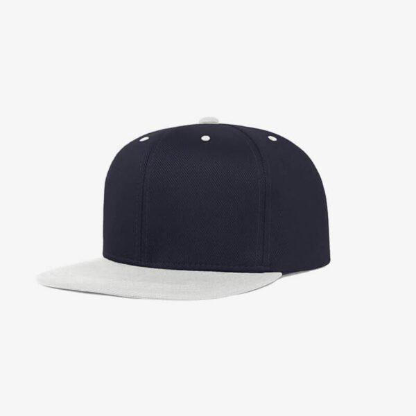 Boné aba reta azul marinho e cinza claro Two color 19 - Perfil