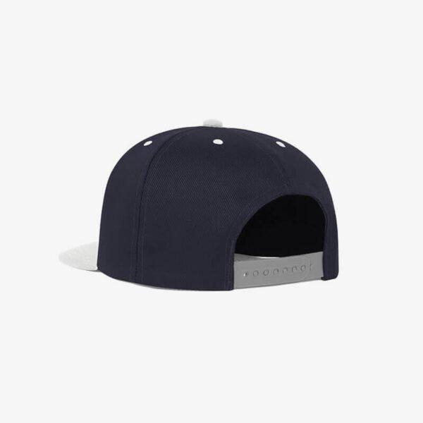 Boné aba reta azul marinho e cinza claro Two color 19 - Perfil tr