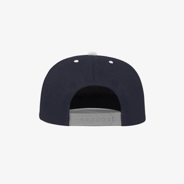 Boné aba reta azul marinho e cinza claro Two color 19 - Traseiro