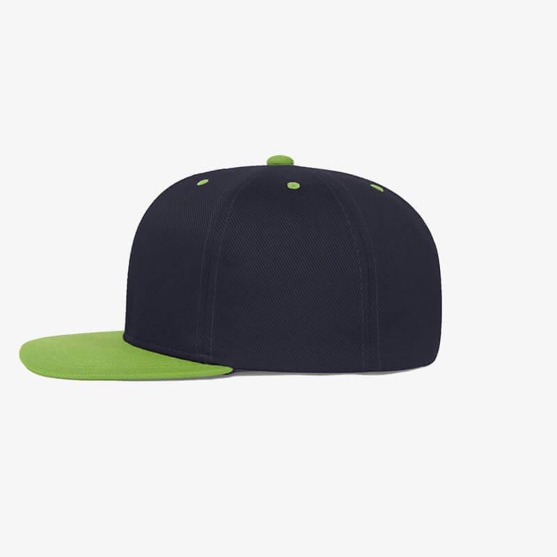 Boné aba reta azul marinho e verde oliva - Two color Lateral