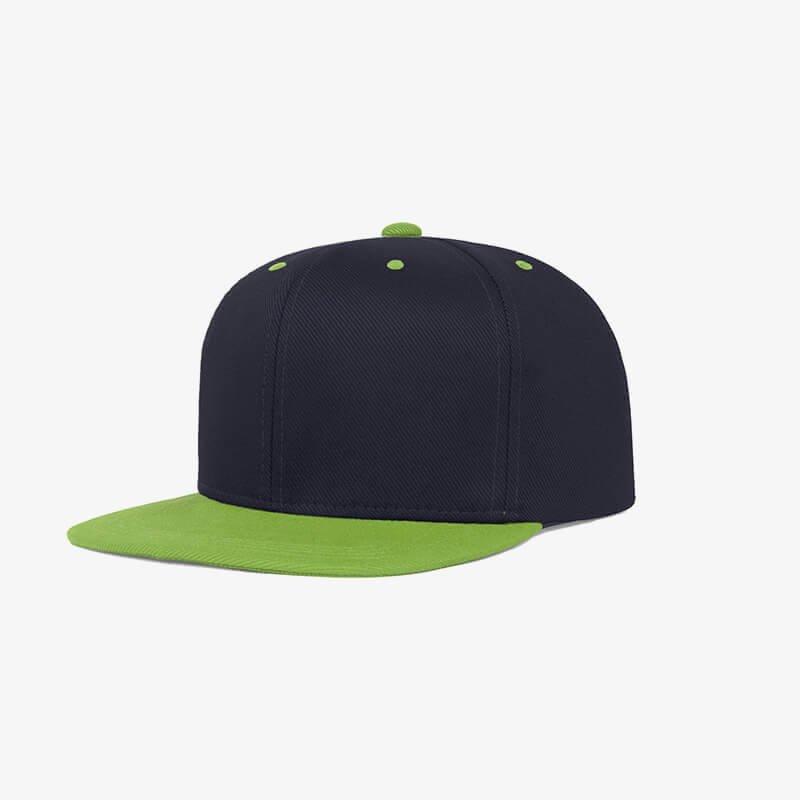 Boné aba reta azul marinho e verde oliva - Two color Perfil