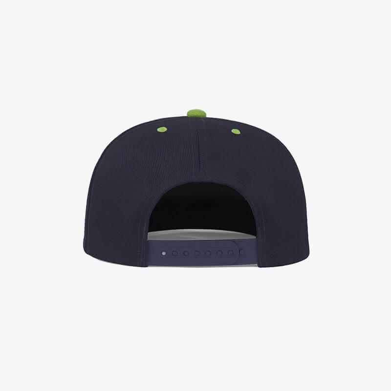 Boné aba reta azul marinho e verde oliva - Two color Traseiro
