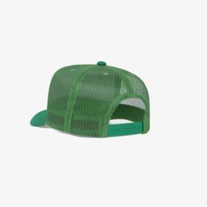 Boné trucker de tela branco e verde - Perfil tr