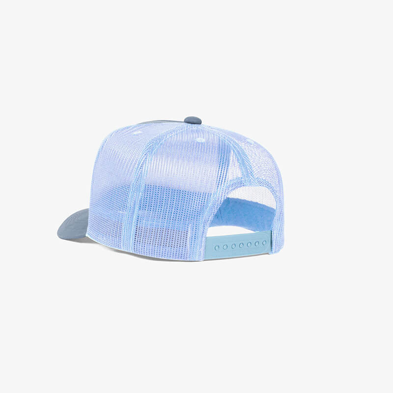 Boné trucker de tela todo azul bebe - One color perfil tr