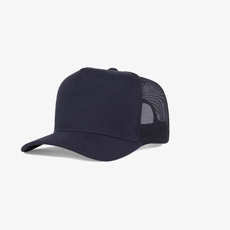 Boné trucker de tela todo azul noite - One color perfil