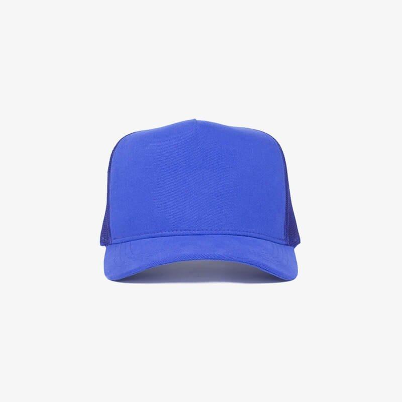 Boné trucker de tela todo azul royal - One color frente