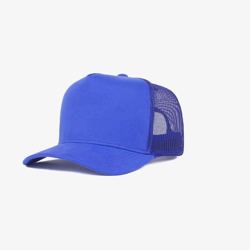 Boné trucker de tela todo azul royal - One color perfil