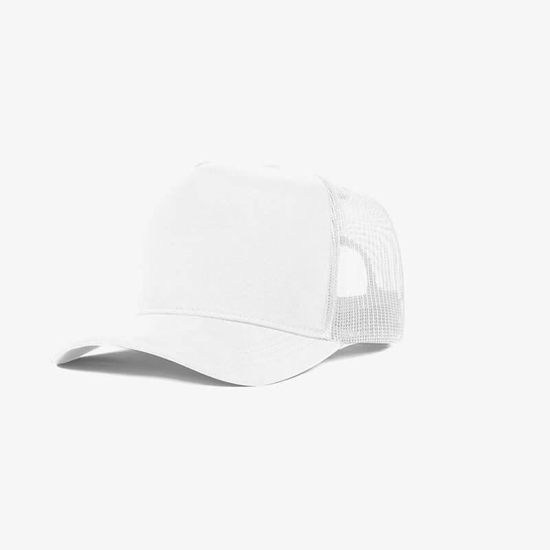 Boné trucker de tela todo branco - One color perfil
