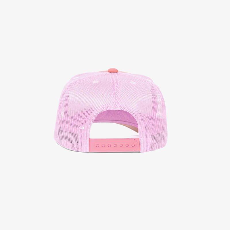 Boné trucker de tela todo rosa claro - One color Traseiro