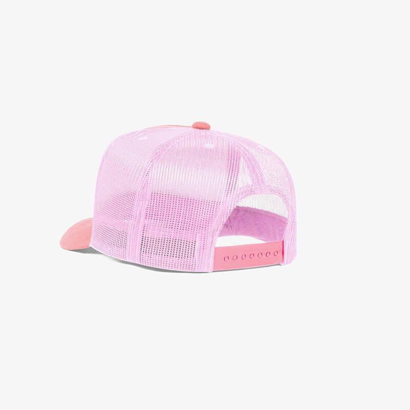 Boné trucker de tela todo rosa claro - One color perfil tr