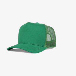 Boné trucker de tela todo verde - One color perfil