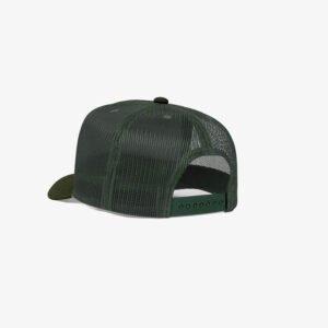 Boné trucker de tela todo verde musgo - One color perfil tr