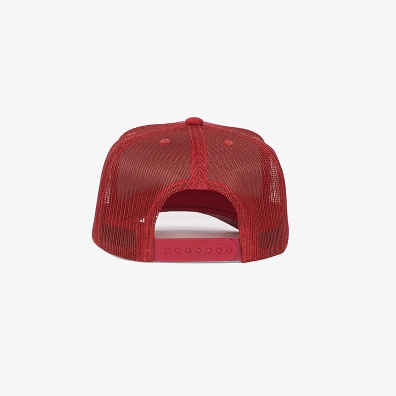 Boné trucker de tela todo vermelho - One color Traseiro
