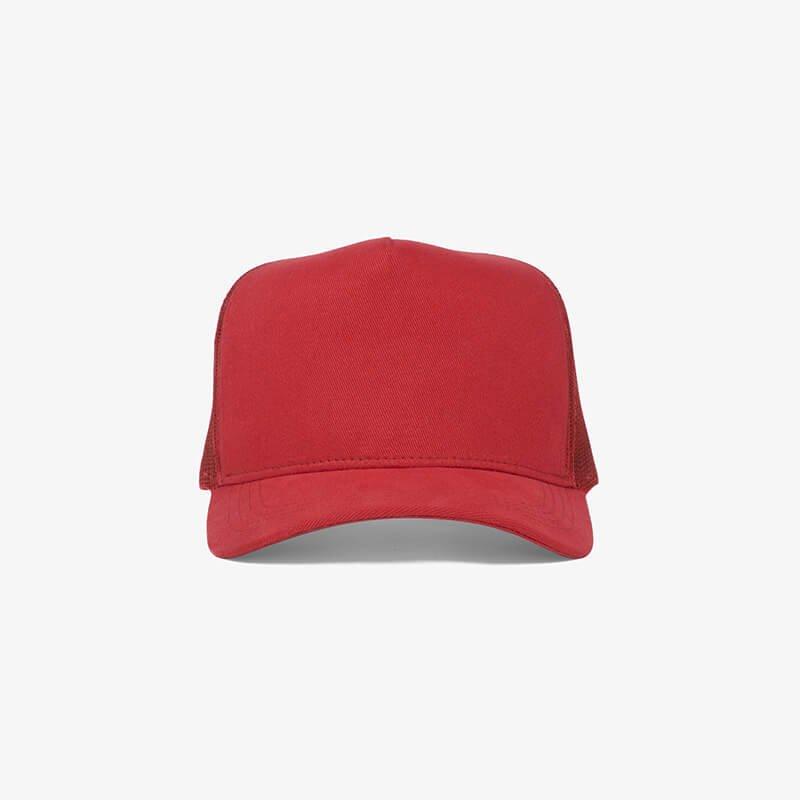 Boné trucker de tela todo vermelho - One color frente