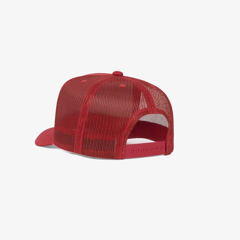 Boné trucker de tela todo vermelho - One color perfil tr