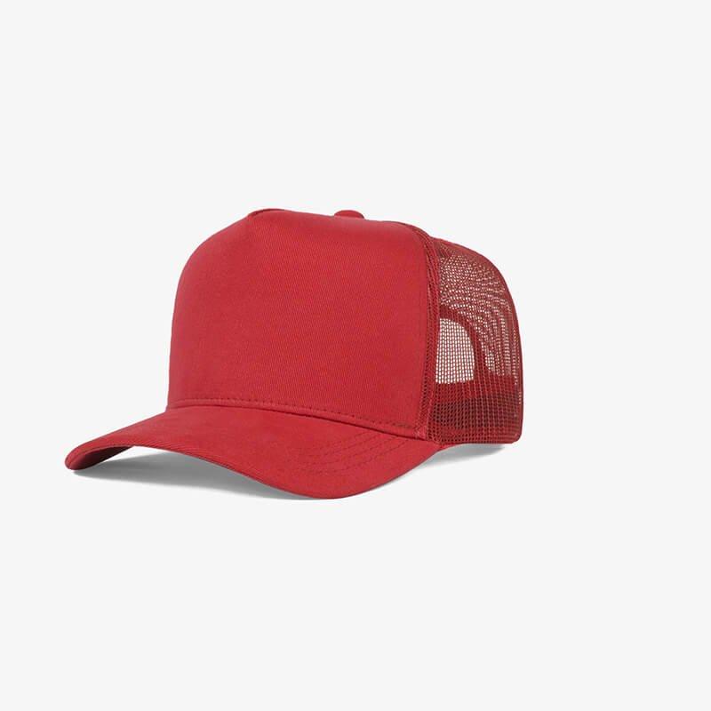 Boné trucker de tela todo vermelho - One color perfil
