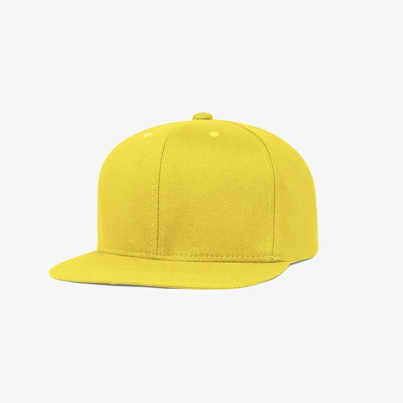 Boné aba reta em sarja verde amarelo - Perfil