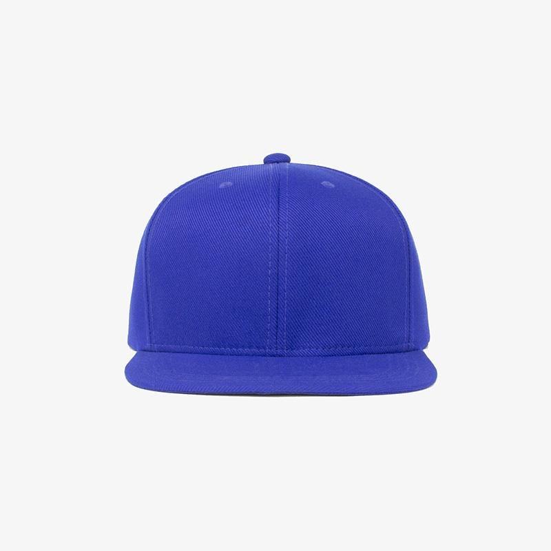 Boné aba reta em sarja azul royal - Frente