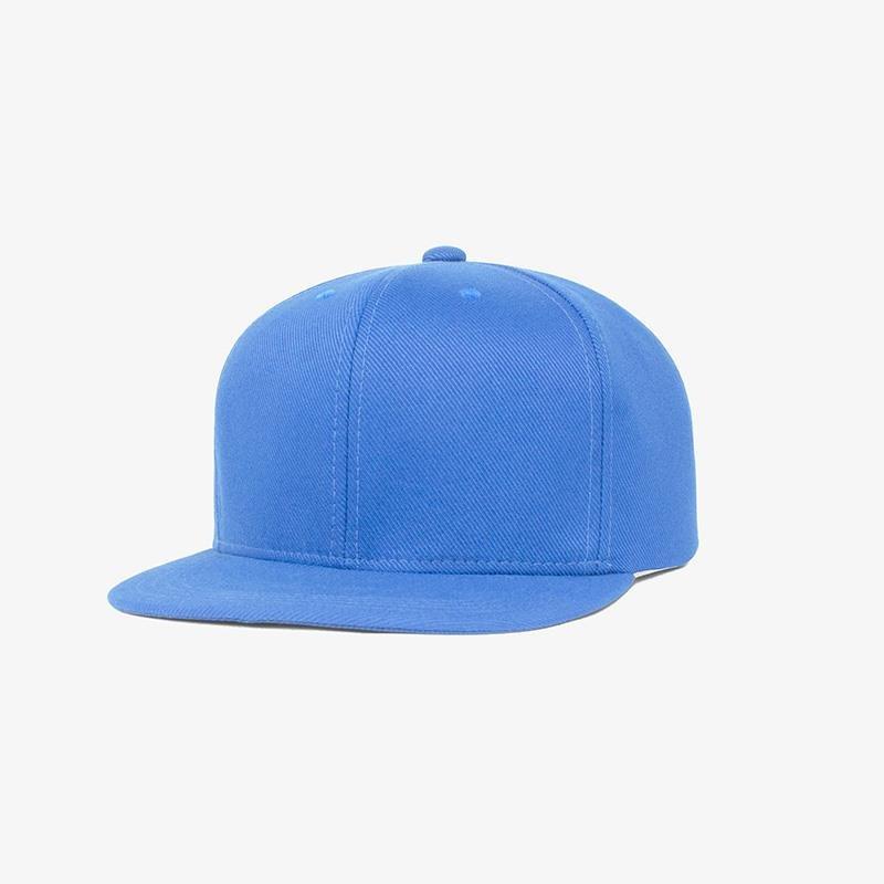 Boné aba reta em sarja azul turquesa - Perfil