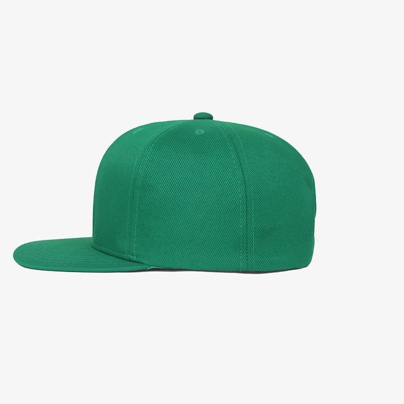 Boné aba reta em sarja verde bandeira - Lateral