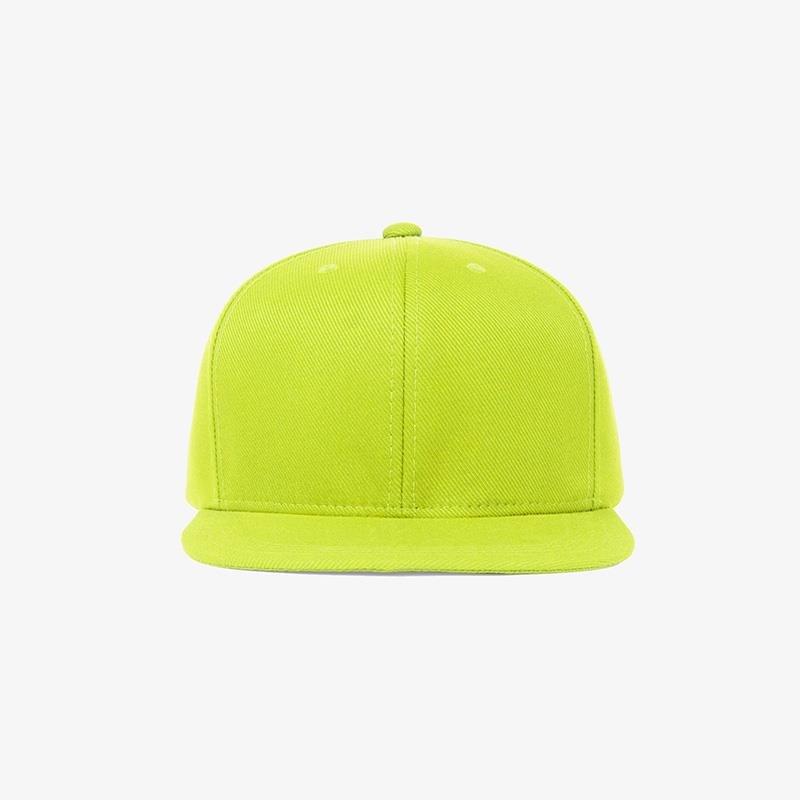 Boné aba reta em sarja verde limão - Frente