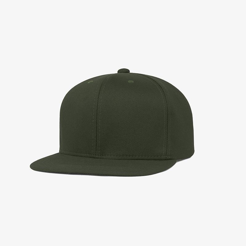 Boné aba reta em sarja verde musgo - Perfil