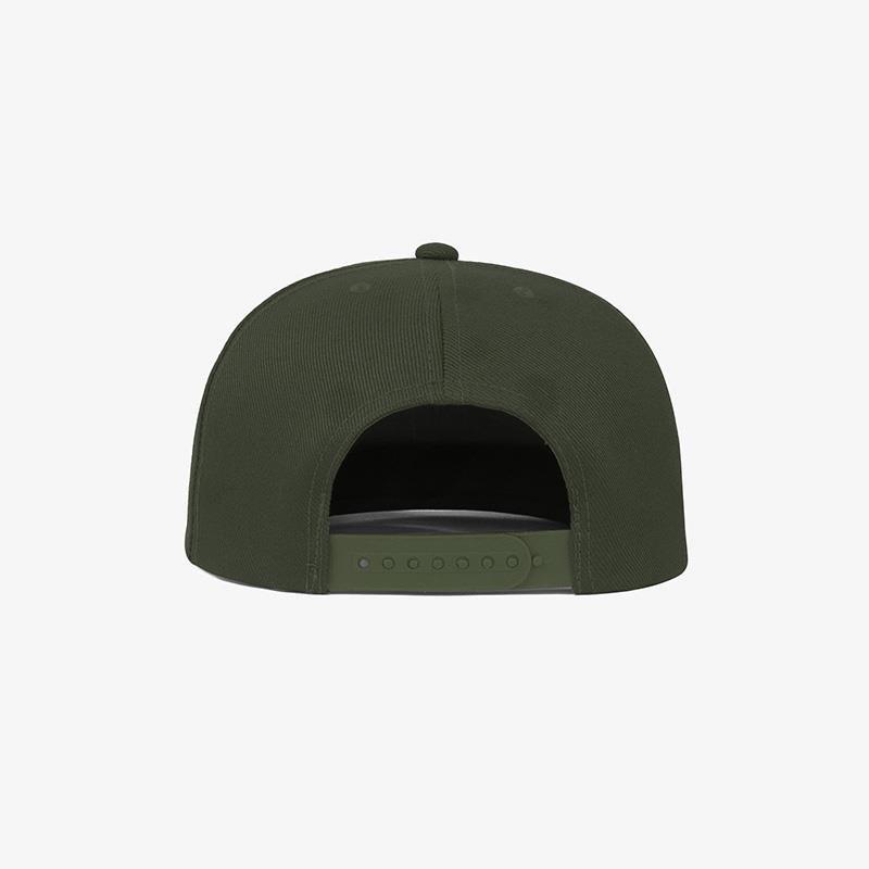 Boné aba reta em sarja verde musgo - Traseiro