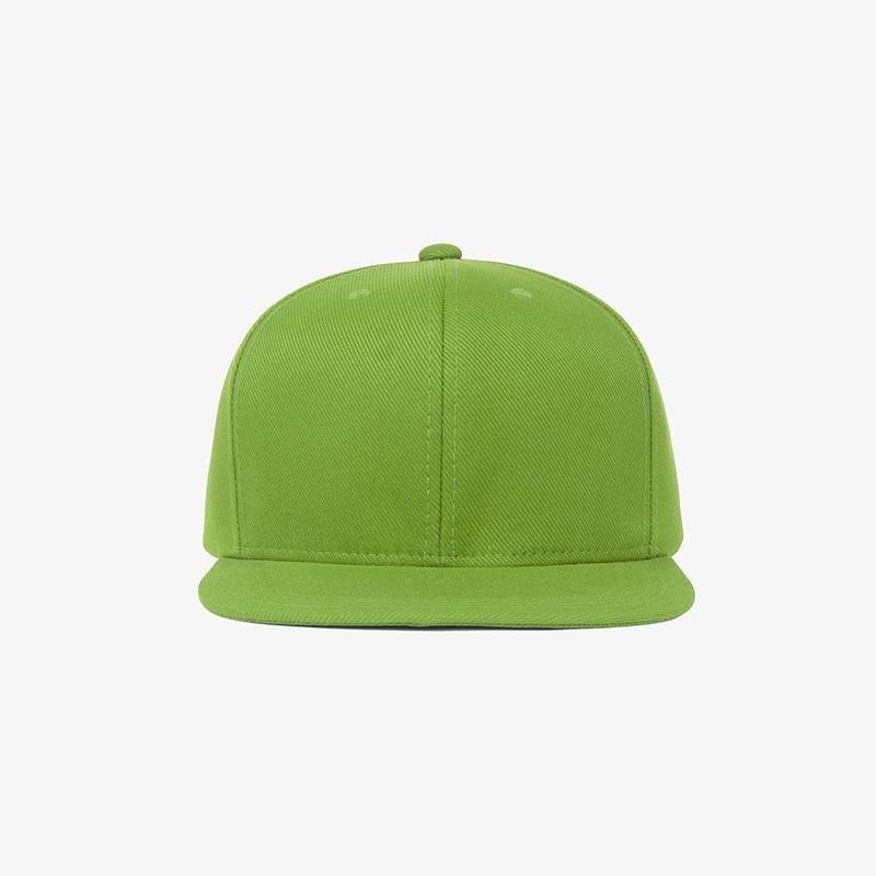 Boné aba reta em sarja verde oliva - Frente