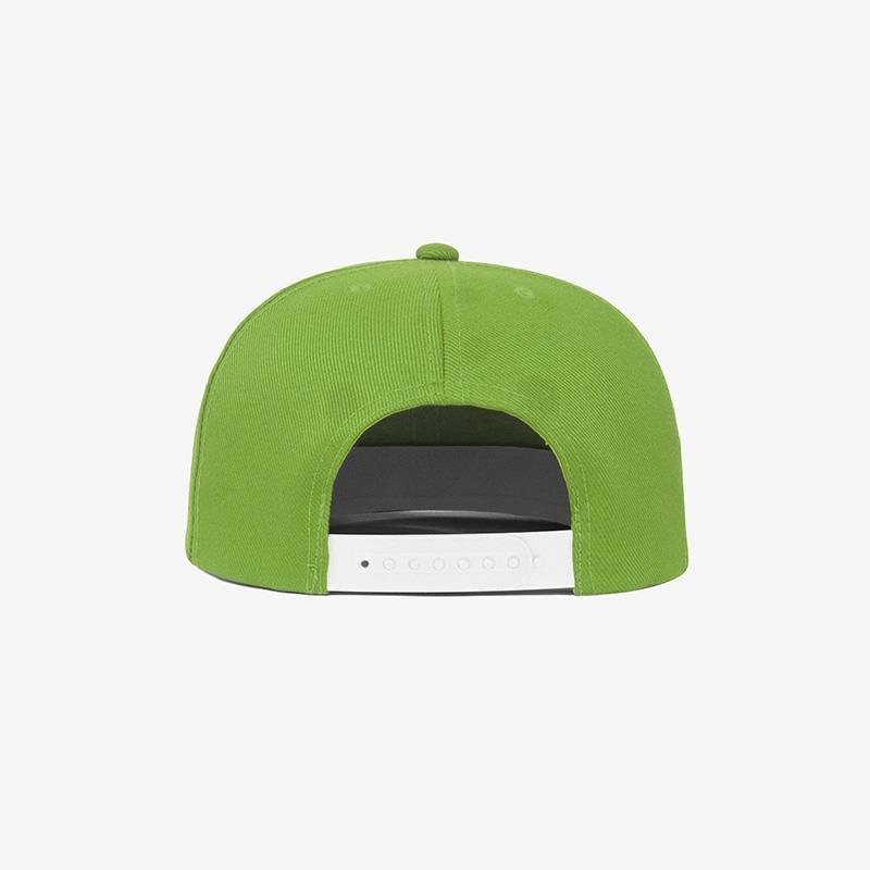 Boné aba reta em sarja verde oliva - Traseiro