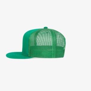 Boné aba reta verde bandeira em brim e tela - Lateral
