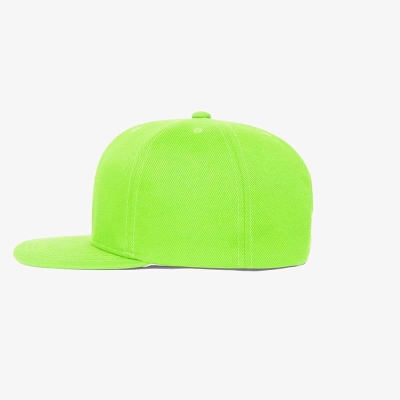 Boné aba reta em sarja verde fluorescente -Lateral