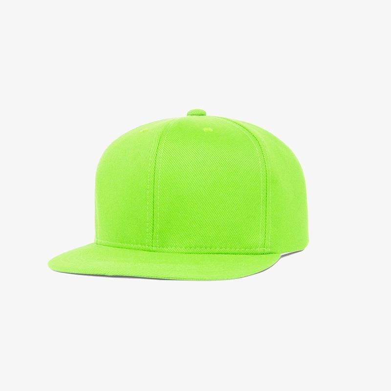 Boné aba reta em sarja verde fluorescente -Perfil