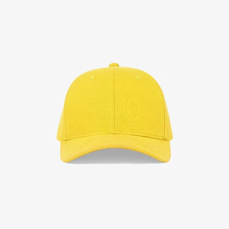 Boné flex fechado em brim amarelo 0180 - Frente
