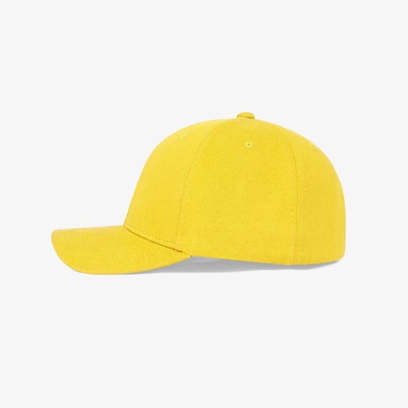 Boné flex fechado em brim amarelo 0180 - Lateral