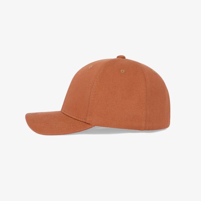 Boné flex fechado em brim laranja 2045 - Lateral