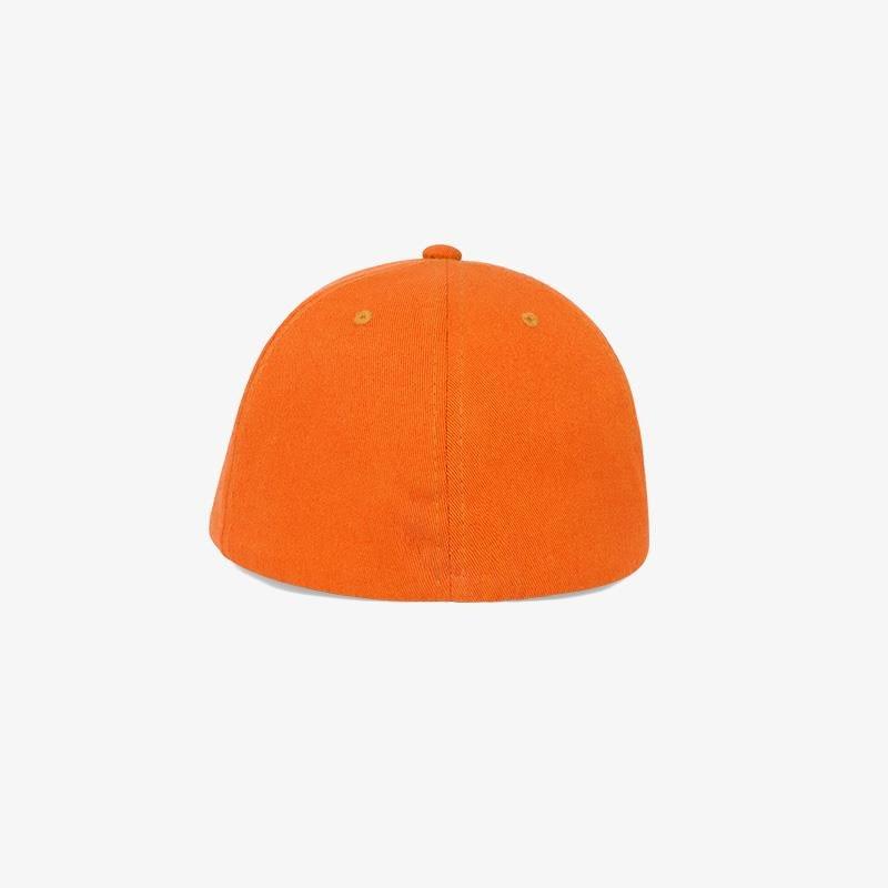 Boné flex fechado em brim laranja - Traseiro