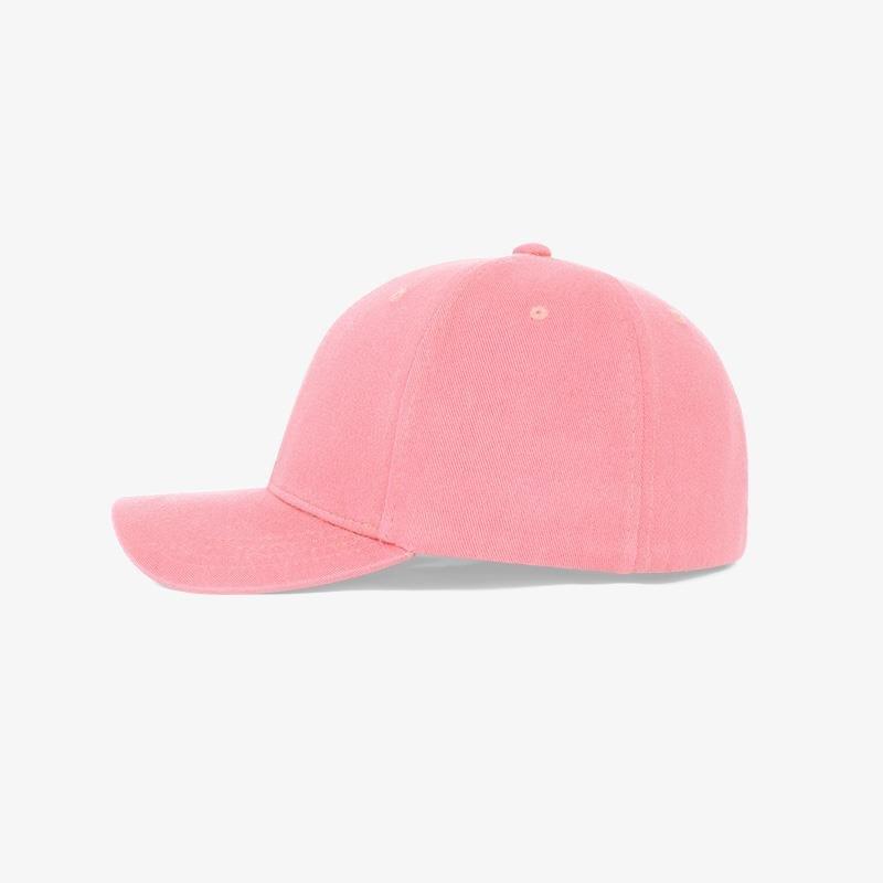 Boné flex em brim rosa claro - Lateral