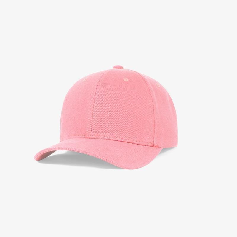 Boné flex em brim rosa claro - Perfil