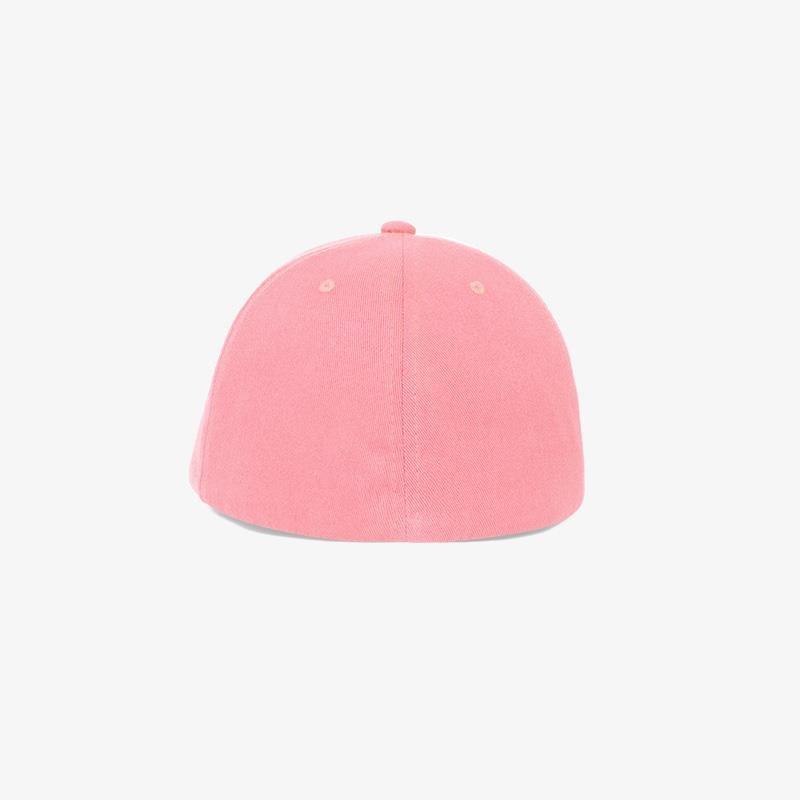 Boné flex em brim rosa claro - Traseiro