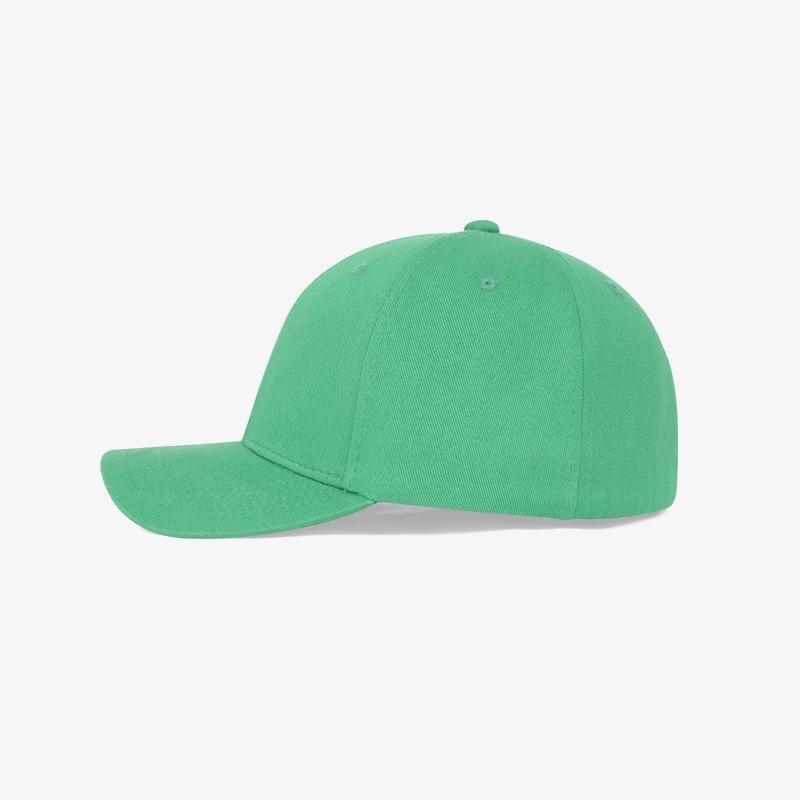 Boné flex fechado em brim verde bandeira 6054 - Lateral