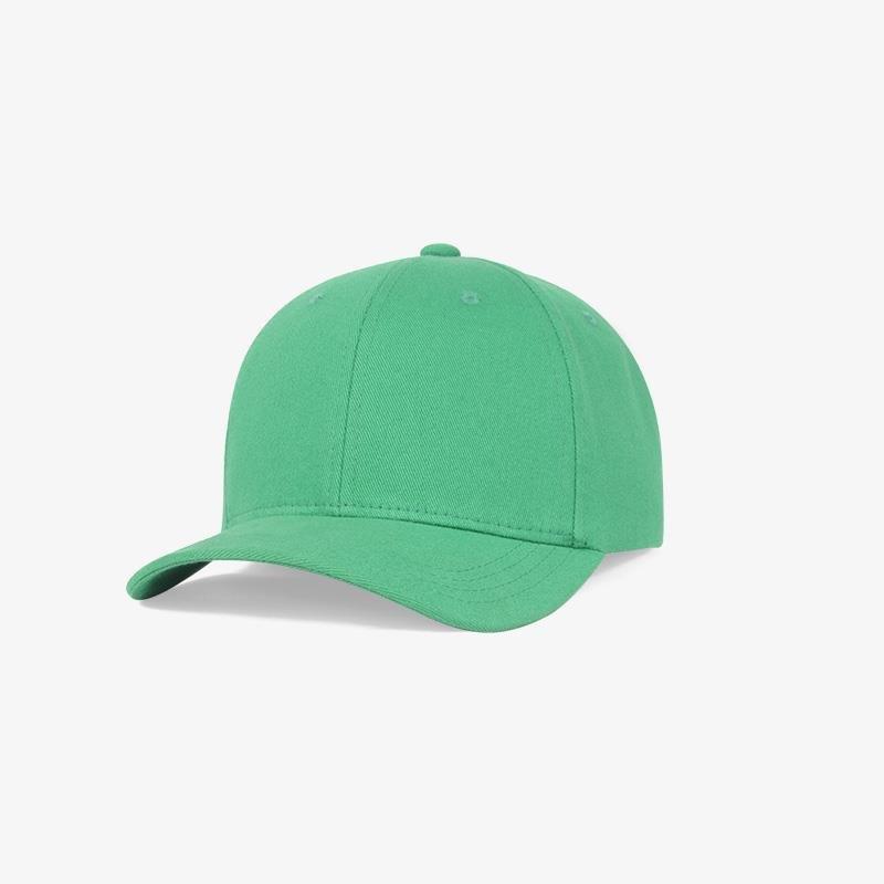 Boné flex fechado em brim verde bandeira 6054 - Perfil