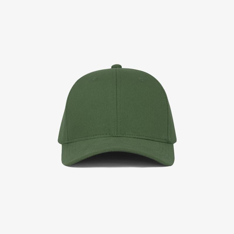 Boné flex fechado em brim verde bandeira 0638 - Frente